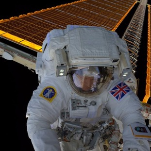 Tim Peake later shared images of himself outside the International Space Centre after his four-and-a-half hour spacewalk.