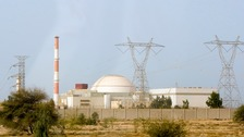 An Iranian nuclear reactor in Bushehr
