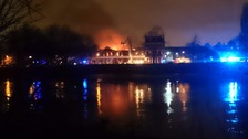 An office on fire in Chiswick