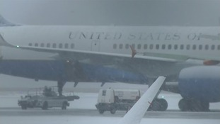 US plane pictures at Geneva airport