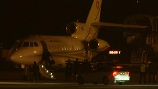 The plane with the three prisoners on board landed in Geneva