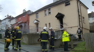 Investigations are underway after an elderly man died in a house fire in Plymouth