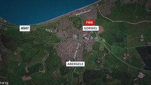 The fire happened at a house in Gorwel, Abergele.