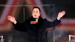 David Gest entering the Celebrity Big Brother House