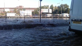 North Circular flooded after water main burst.