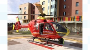 The man was flown to the Royal Stoke University Hospital