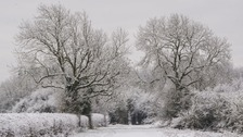 The wintry weather in Northamptonshire.
