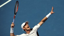 Andy Murray during his first round match against Germany's Alexander Zverev at the Australian Open