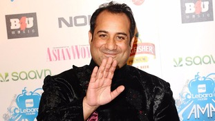 Rahat Fateh Ali Khan arriving at the Lebara Mobile Asian Music Awards at Wembley Arena in 2012