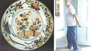 The japanese porcelain taken from Petworth House and the man police want to question