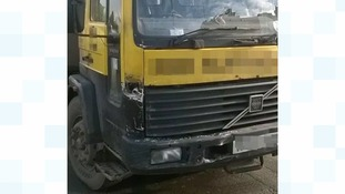 The HGV was involved in the crash