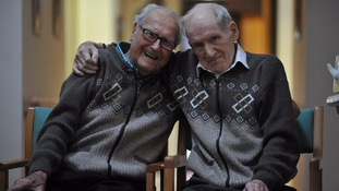 Best men reunited in care home - thanks to identical cardies