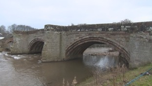 One metre hole in Eamont Bridge
