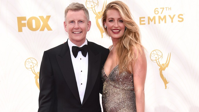 Cat Deeley and Patrick Kielty at 67th Emmys