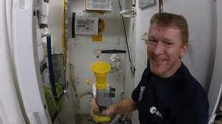 Tim Peake explains how to go to the toilet in space
