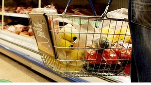 Supermarket shopping basket