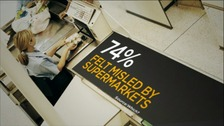 Graphic showing 74% of shoppers feel misled by supermarkets
