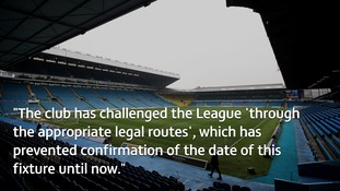 Football League regrets late announcement over Leeds United v Middlesbrough Championship fixture