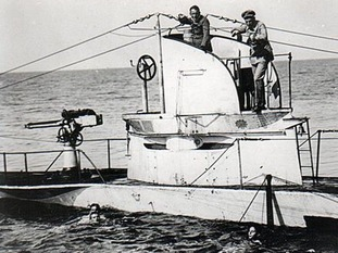 An archive photo of the submarine in action.