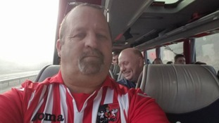 Exeter City fan Mark Jarman