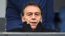 Leeds United's owner Massimo Cellino in the stands