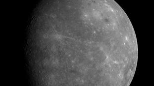 An image of Mercury taken by Nasa's Messenger spacecraft