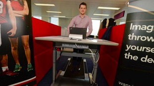 The treadmill desk