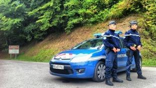 Gendarmes stand guard