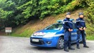 Gendarmes stand guard