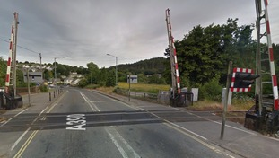 The level crossing at St Blazey