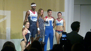 Stella McCartney on stage with Team GB whose 600 Olympic kits she designed