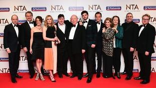 Downton Abbey stars shine at the National Television Awards