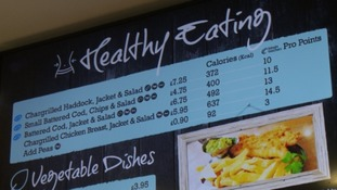 Healthy options on the menu at Plymouth chip shop