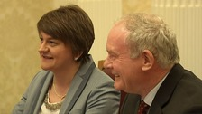 Northern Ireland First Minister Arlene Foster and Deputy First Minister Martin McGuinness