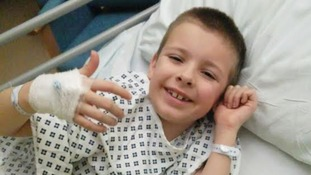 Lucky escape for boy who swallowed lego piece