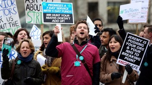 Junior doctors went on strike earlier in the month