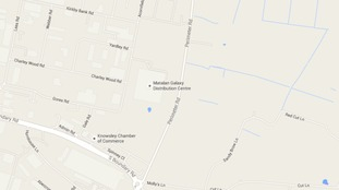 Map shows the location of the distribution centre.