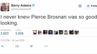 One of Gerry Adams' popular tweets
