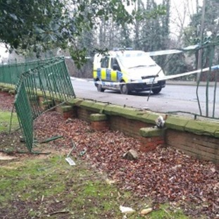 Cemetery gates damaged in Gainsborough