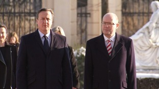 David Cameron arrives in Prague