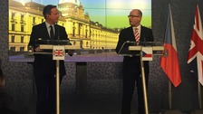 David Cameron and Bohuslav Sobotka