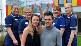 Alton Towers couple raise £6,900 for nurses who helped them recover