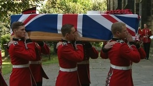 Funeral of Guardsman Jamie Shadrake held in Wrexham