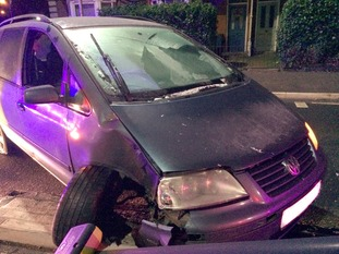Car collides with traffic light in Ipswich