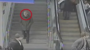 A CCTV image of the man at Piccadilly Station shortly before he was found dead.