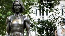The bronze statue