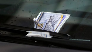 File image of a parking ticket