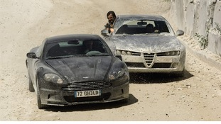 Bond's 2008 Aston Martin sports car, from Quantum of Solace, is expected to fetch between £100,000 and £150,000