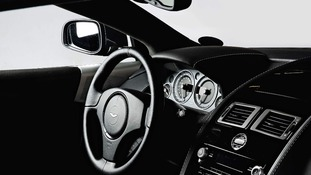 The interior of a 2008 Aston Martin used by Daniel Craig