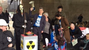 Anti-Trident protesters stage 'red button' demo
